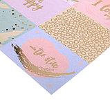 Бумага для скрапбукинга с фольгированием «Счастье всегда со мной», 30.5 × 30.5 см, 250 г/м, фото 2