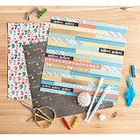 Бумага для скрапбукинга с фольгированием «Я люблю каникулы», 30.5 × 30.5 см, 250 г/м, фото 3