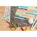 Бумага для скрапбукинга с фольгированием «Я люблю каникулы», 30.5 × 30.5 см, 250 г/м, фото 4