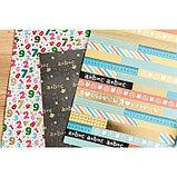Бумага для скрапбукинга с фольгированием «Я люблю каникулы», 30.5 × 30.5 см, 250 г/м, фото 5