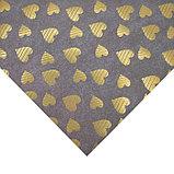 Бумага для скрапбукинга с голографическим фольгированием «Сердечки», 30.5 × 32 см, 250 г/м, фото 2