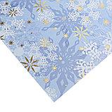 Бумага для скрапбукинга с фольгированием «Морозные узоры», 30.5 × 30.5 см, 250 г/м, фото 2