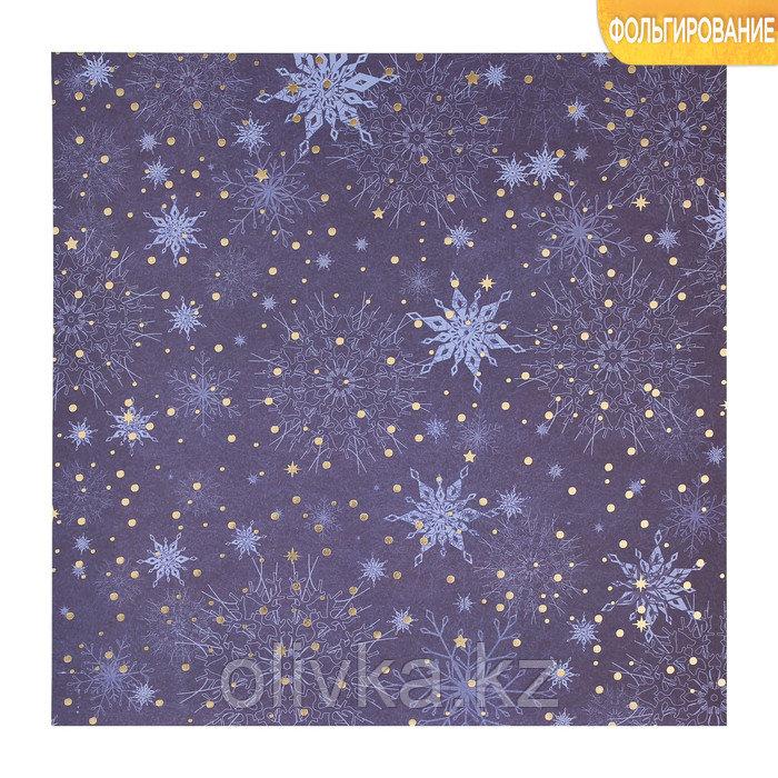 Бумага для скрапбукинга с фольгированием «Сияние ночи», 30.5 × 30.5 см, 250 г/м