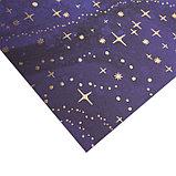 Бумага для скрапбукинга с фольгированием «Новогодняя ночь», 30.5 × 30.5 см, 250 г/м, фото 2