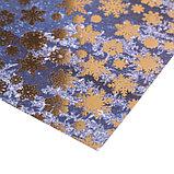 Бумага для скрапбукинга с фольгированием «Заснеженные досочки», 30.5 × 30.5 см, 180 г/м, фото 2