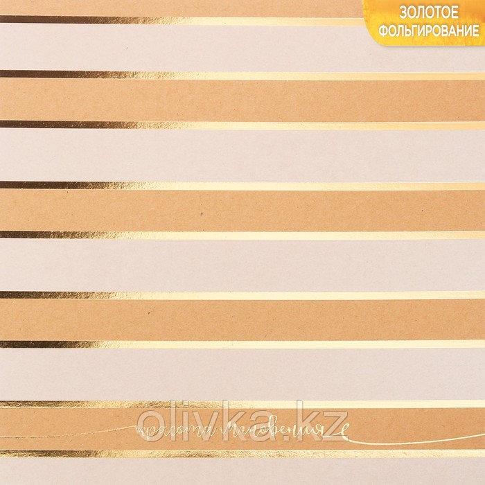Бумага крафтовая для скрапбукинга с фольгированием «Красота мгновения», 20 × 20 см, 300 г/м