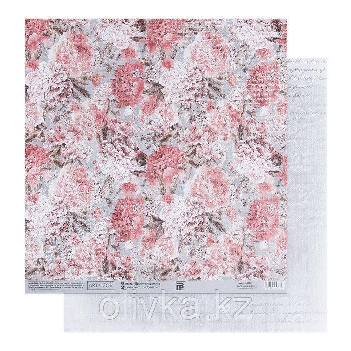 Бумага для скрапбукинга «Винтажные розы», 30.5 × 32 см, 180 гм
