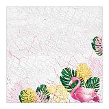 Бумага для скрапбукинга «Фламинго», 30,5 х 30,5 см, 180 г/м, фото 2