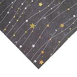 Бумага для скрапбукинга с голографическим фольгированием «Звёздное небо», 30.5 × 32 см, 250 г/м, фото 2