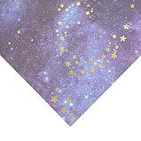 Бумага для скрапбукинга с голографическим фольгированием «Космос», 30.5 × 32 см, 250 г/м, фото 2