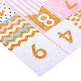 Бумага для скрапбукинга с блёстками «Календарь», 30,5 х 30,5 см, 180 г/м, фото 2