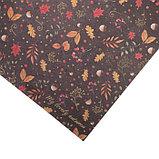 Бумага для скрапбукинга с фольгированием «Любимая осень», 30.5 × 30.5 см, 250 г/м, фото 2