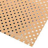 Бумага крафтовая для скрапбукинга с фольгированием «Волшебство», 20 × 20 см, 300 г/м, фото 2