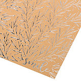 Бумага крафтовая для скрапбукинга с фольгированием «Улыбайся», 20 × 20 см, 300 г/м, фото 2
