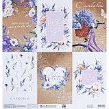 Бумага для скрапбукинга «Лавандовые карточки», 30.5 × 32 см, 180 гм, фото 3