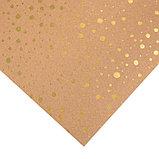 Бумага для скрапбукинга крафтовая с голографическим фольгированием «Брызги золота», 30.5 × 32 см, фото 2