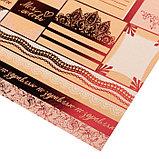 Бумага крафтовая для скрапбукинга с фольгированием «Счастливы вместе», 30,5 х 30,5 см, 300 г/м, фото 2