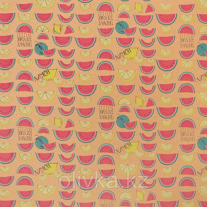 Бумага крафтовая для скрапбукинга с фольгированием «Фруктовое настроение», 30,5 × 30,5 см,300 г/м