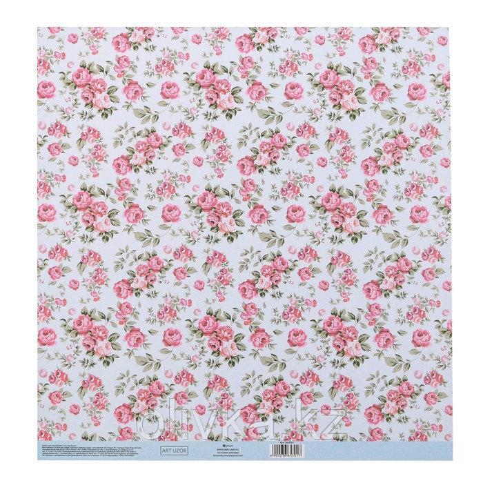 Бумага для скрапбукинга с клеевым слоем «Райский сад», 30,5 × 32 см, 250 г/м