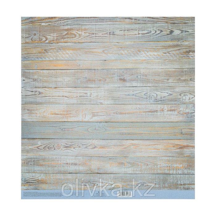 Бумага для скрапбукинга с клеевым слоем «Доски», 30,5 × 32 см, 250 г/м