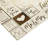 Бумага жемчужная с фольгированием «Наша свадьба», 30.5 × 30.5 см, фото 2
