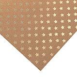 Бумага для скрапбукинга крафтовая с голографическим фольгированием «Звёзды», 30.5 × 32 см, фото 2