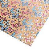 Бумага крафтовая для скрапбукинга с фольгированием «Бабочки», 30,5 х 30,5 см, 300 г/м, фото 2