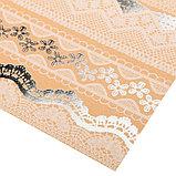 Бумага крафтовая для скрапбукинга с фольгированием «Кружево», 30,5 х 30,5 см, 300 г/м, фото 2