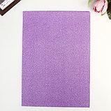 """Бумага на клеевой основе плотность 80 гр """"Блеск фиолетовый"""" набор 10 листов формат А4, фото 2"""