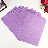 """Бумага на клеевой основе плотность 80 гр """"Блеск фиолетовый"""" набор 10 листов формат А4, фото 3"""