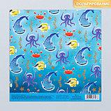 Набор бумаги для скрапбукинга «Оттенки голубого», 10 листов, 15.5 × 15.5 см, фото 4
