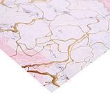 Бумага в листах с фольгированием «Мрамор», 10 листов 30,5 х 30,5 см, 180 г/м, фото 2