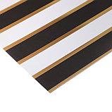 Бумага для скрапбукинга с фольгированием «Тёмные полосы», 10 листов, 30.5 × 30.5 см, 250 г/м, фото 2