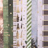 Бумага для скрапбукинга фольгированием «Зимние грёзы», 20 × 20 см, 250 г/м², фото 2