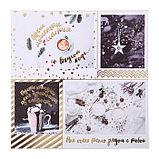 Бумага для скрапбукинга фольгированием «Зимние грёзы», 20 × 20 см, 250 г/м², фото 3