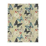 "Бумага 1-сторонняя с золотым тиснением ""Бабочки""набор 50 лист., пл-сть 80 гр 24,5х17,3 см, фото 2"