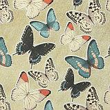"Бумага 1-сторонняя с золотым тиснением ""Бабочки""набор 50 лист., пл-сть 80 гр 24,5х17,3 см, фото 3"