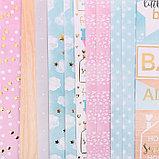Набор бумаги для скрапбукинга с фольгированием «Сладкая вата», 12 листов 30.5 × 30.5 см, фото 3