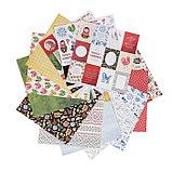 "Набор бумаги для скрапбукинга (13 листов) ""Красна девица"" 30,5х30,5 см, 190 гр/м2, фото 2"