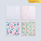 Набор бумаги для скрапбукинга «Цветочные мотивы», 10 листов, 30.5 × 30.5 см, фото 2