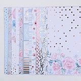 Набор бумаги для скрапбукинга с фольгированием «Букет невесты», 12 листов, 30.5 × 30.5 см, фото 3