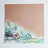 Набор бумаги для скрапбукинга с фольгированием «Поход‒это маленькая жизнь», 12 листов, 30.5 × 30.5 см, фото 5