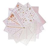 """Бумага для скрапбукинга """"Наша доченька"""" набор 14 листов, 30,5 х 30,5 см, 190гр/м2, фото 3"""