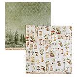 "Набор бумаги для скрапбукинга ""Ароматы леса"" 16 шт., 30.5х30.5 см, 190 гр/м2., фото 4"