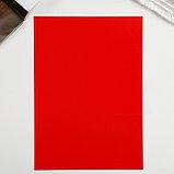 "Картон двусторонний ""Неон красный"" формат А4 плотность 250 гр, фото 2"