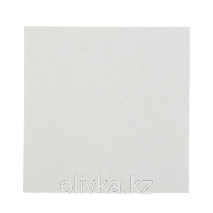 Пивной картон, 15 х 15 см, толщина 1.5 мм, 577 г/м2, белый
