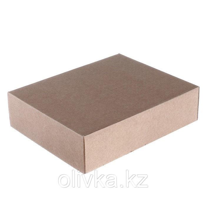 Коробка сборная без печати крышка-дно бурая без окна 18 х 15 х 5 см