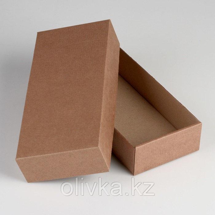 Коробка сборная без печати крышка-дно бурая без окна 24 х 11,5 х 4,5 см