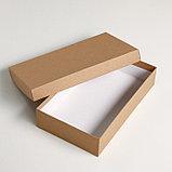 "Набор коробок 4 в 1 ""Крафт однотонный"", 30 х 20 х 8 - 24 х 14 х 5 см, фото 2"