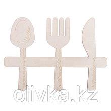 """Заготовка деревянная """"Приятного аппетита!"""", 28 х 20 х 0,4 см"""
